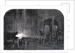 Process of rolling armour-plates for Her Majesty's ships at the Alas Steelworks, Sheffield by Mason Jackson