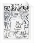 Captain Ruminavi presents Francisco Pizarro and Diego de Almagro with two women by Felipe Huaman Poma de Ayala