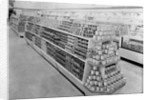 Tinned foods aisle, Woolworths store by English Photographer