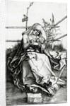 Virgin and Child seated on a grass bench by Albrecht Dürer or Duerer
