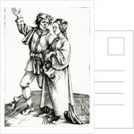 A rustic couple by Albrecht Durer or Duerer