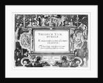 Title-page for 'Theatrum Vitae Humanae' by Hans Vredeman de Vries