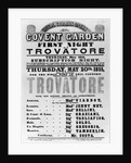 Playbill for the Royal Italian Opera at Covent Garden by English School