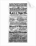 Playbill announcing a performance of 'Love Spell' at the behest of the Duke and Duchess of Cambridge by English School