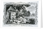 Alexander Selkirk on the Island of Juan Fernandes by English School