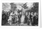 The Marriage of Louis de Bourgogne with Marie Adelaide of Savoy by Nicholas de Largilliere