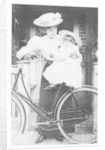 Mother and Child on a Bicycle by English Photographer