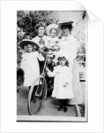 Family Group with Bicycle by English Photographer
