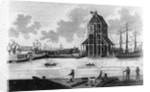 View of Mr Perry's Dock at Blackwall by English School
