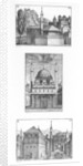 Streets and mosques in Constantinople by Melchior Lorck