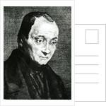 Auguste Comte, etched by Felix Bracquemond by Joseph Benoit Guichard