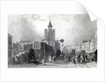 High St. with the Church of St. Nicholas, Colchester, Essex by William Henry Bartlett