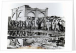 """Prisoners passing the """"Mihrab,"""" the Khalifa's Prayer House by English Photographer"""