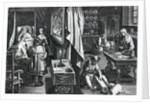 Hyacum et lues venerea by Jan van der Straet