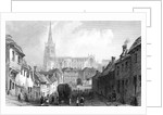 Thaxted from the South, Essex by William Henry Bartlett