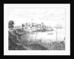 South East view of Geriah Fort, the Landing Place and Entrance from' A Voyage to India' by Edward Ives by English School