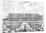The South facade of Hampton Court by Dutch School