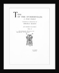 Title page to 'Tess of the D'Urbervilles' by Thomas Hardy, edition published in 1892 by English School