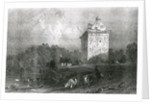 Gilnockie - or Johnny Armstrong's Tower (Dumfries-shire) by Thomas Allom