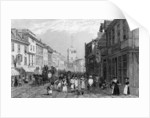 Market day in Dartford, Kent, engraved by Henry Adlard by George Shepherd