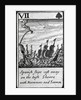 Spanish Ships Cast Away. VII of Spades from a pack of playing cards by English School