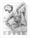 A Plan of the House and Gardens at Stowe, Buckinghamshire by Johann Sebastien Muller