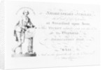 A ticket for the Shakespeare Jubilee celebrations by English School