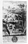 The Harbourer with the blood hound for harbouring the stagg by English School