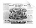 Advertisement for 'Harness world famed Electropathic Belts' by English School