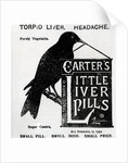 Advertisement for 'Carter's Little Liver Pills' by English School