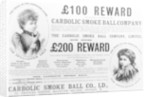 Advertisement for the 'Carbolic Smoke Ball Company' by English School