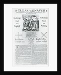 A Cloak for Knavery by English School
