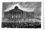 Burning of the Court-House at Cork by English School