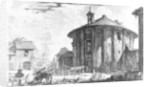 View of the Temple of Cybele in the Piazza della Bocca della Verita by Giovanni Battista Piranesi