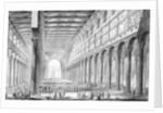 View of the interior of Basilica of San Paolo fuori le Mura by Giovanni Battista Piranesi