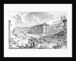 View of the Piazza di Spagna by Giovanni Battista Piranesi