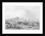 Leith Pier and Harbour by William Henry Bartlett