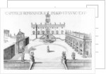 View of the Capitoline in Rome by Italian School