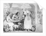 At the Cobblers by Thomas Rowlandson