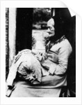 A lace maker outside her cottage in South Buckinghamshire, late C19th by English Photographer