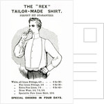 Advertisement for The 'Rex' Tailor-Made Shirt by English School