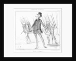 The Triumphal March by Honore Daumier