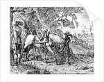 Two Riders Resting, by Hendrik Vershuring by Dutch School