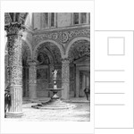 Detail of the Courtyard of the Palazzo Vecchio by Italian School