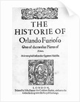 The Historie of Orlanda Furioso by English School