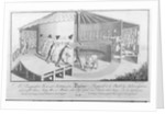 A Perspective View and Section of an Engine Propos'd to be Built by Subscription which will shave Sicty Men a Minute, also Oyl comb and Powder their Wigs by English School