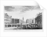 A north view of Hanover Square, London by English School