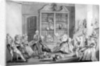 A private rehersal of Jane Shore, made by John Petit after William Holland by English School