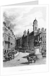 Charing Cross, looking up the Strand by English School