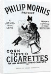 Poster for Philip Morris Cigarettes, designed by Linsay Sambourne by English School
